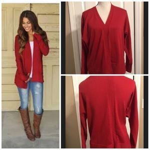 Coldwater creek red sweater